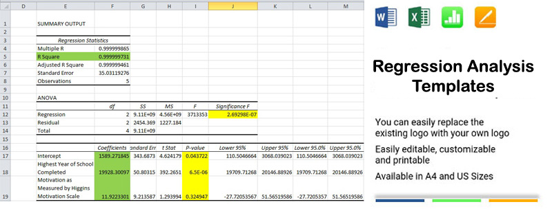 Regression Analysis Template Excel